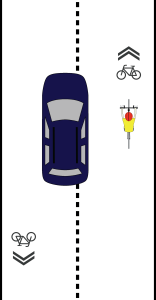 Pass at an appropriate speed and give the cyclist plenty of room.