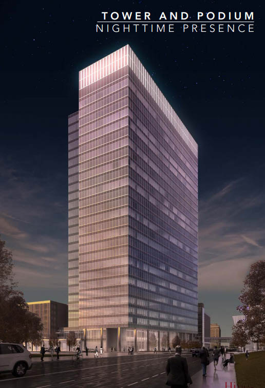 The proposed design of Devon's new 499 Sheridan tower.